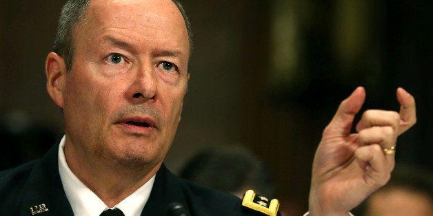 WASHINGTON, DC - OCTOBER 02: Gen. Keith Alexander, Director of the National Security Agency testifes during a Senate Judiciar