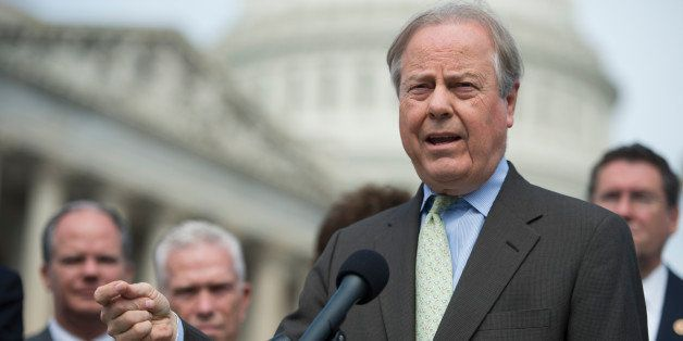 UNITED STATES - SEPTEMBER 26: Rep. Ed Whitfield, R-Ky., speaks at the House Triangle during Coal Caucus' news conference on t
