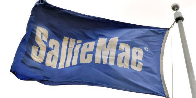 UNITED STATES - APRIL 16:  A flag flies outside a Sallie Mae building in Reston, Virginia, a suburb of Washington D.C., Monda