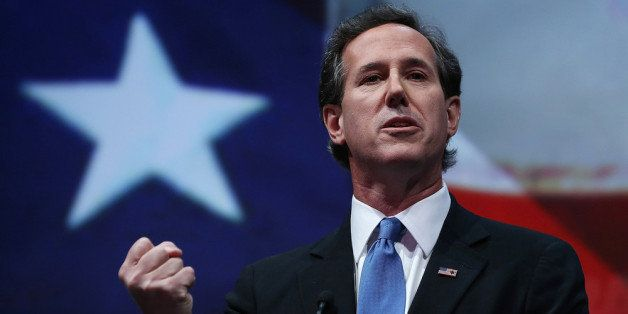 HOUSTON, TX - MAY 03:  Former U.S. Sen. Rick Santorum (R-PA) speaks during the 2013 NRA Annual Meeting and Exhibits at the Ge