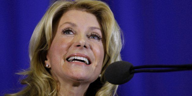 In front of a cheering crowd, Wendy Davis formally announces her run to be Texas' next governor on Thursday, October 3, 2013, in Haltom City, Texas. (Paul Moseley/Fort Worth Star-Telegram/MCT via Getty Images)