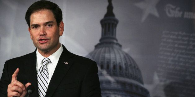 WASHINGTON, DC - OCTOBER 30:  U.S. Sen. Marco Rubio (R-FL) speaks to members of the media during a press conference October 3