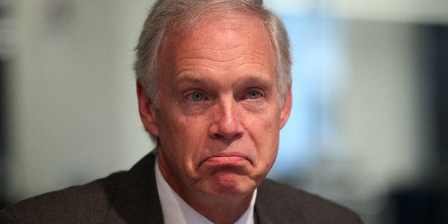 Senator Ron Johnson, a Republican from Wisconsin, pauses during an interview in Washington D.C., U.S., on Friday, Oct. 11, 20