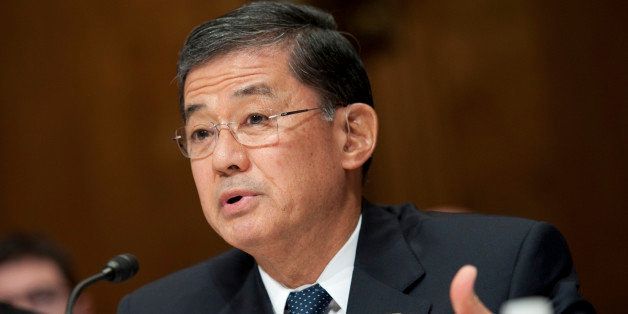 UNITED STATES - APRIL 23: Veterans Affairs Secretary Eric Shinseki testifies at a Senate Budget committee hearing on 'The Pre