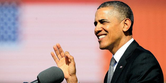 NEW ORLEANS, LA - NOVEMBER 08: US President Barack Obama speaks during an Economic Address at The Port Of New Orleans on Nove