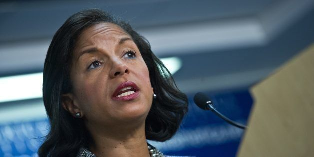 US National Security Advisor Susan Rice speaks about the situation in Syria at the New America Foundation in Washington,DC on