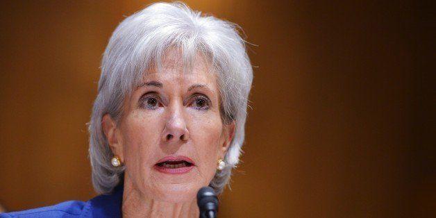 US Health and Human Services Secretary Kathleen Sebelius testifies before the Senate Finance Committee on health insurance ex