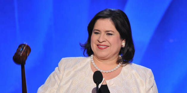 Leticia Van de Putte, State Senator from Texas and Co-Chair of the DNC, calls to order at the Democratic National Convention