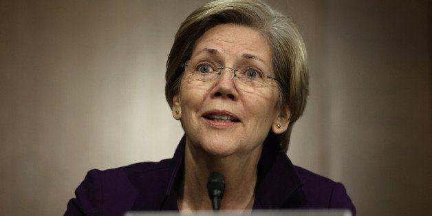 WASHINGTON, DC - NOVEMBER 14:  U.S. Sen. Elizabeth Warren (D-MA) speaks during a confirmation hearing for Nominee for the Fed
