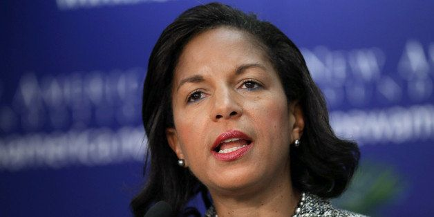 WASHINGTON, DC - SEPTEMBER 09:  White House National Security Advisor Susan Rice delivers remarks about the Syrian government