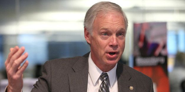 Senator Ron Johnson, a Republican from Wisconsin, speaks during an interview in Washington D.C., U.S., on Friday, Oct. 11, 20