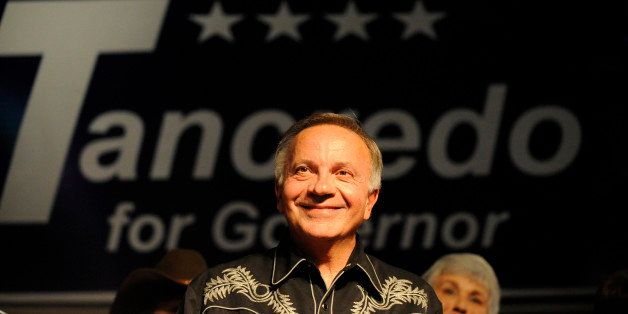 110210_Election_CFW- Gubernatorial candidate Tom Tancredo, of the American Constitution Party, offers thanks to his supporter