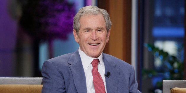 THE TONIGHT SHOW WITH JAY LENO -- Episode 4570 -- Pictured: Former President George W. Bush during an interview on November 1