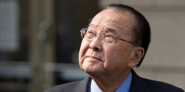 Sen. Daniel Inouye (D-HI) leaves the federal court after appearing as a witness in the corruption case of Sen. Ted Stevens (R