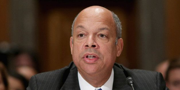 WASHINGTON, DC - NOVEMBER 13:  Former Department of Defense General Counsel Jeh Johnson testifies before the Senate Homeland
