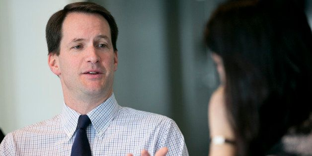 Representative James 'Jim' Himes, a Democrat from Connecticut, speaks during an interview in Washington, D.C., U.S., on Thurs