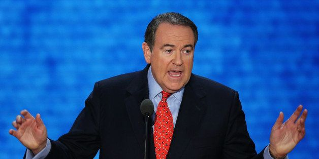 TAMPA, FL - AUGUST 29:  Former Arkansas Gov. Mike Huckabee speaks during the third day of the Republican National Convention