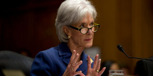 UNITED STATES - Nov 6: Health and Human Services Secretary Kathleen Sebelius answers questions about the error-plagued launch