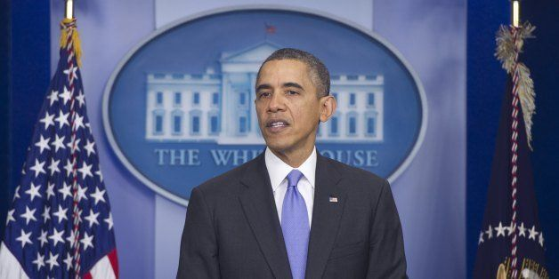 US President Barack Obama holds a press conference in the Brady Press Briefing Room at the White House in Washington, DC, Dec