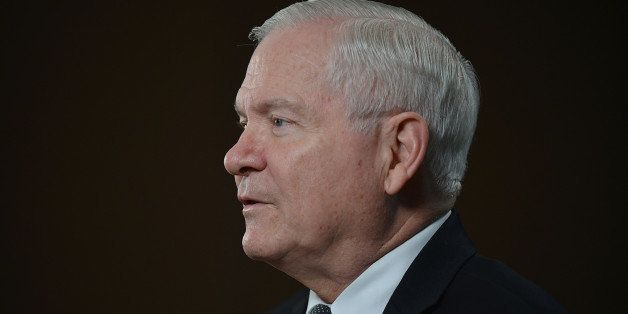 Robert Gates, U.S. secretary of defense, speaks during a Bloomberg Television interview at the Everest Capital Emerging Marke