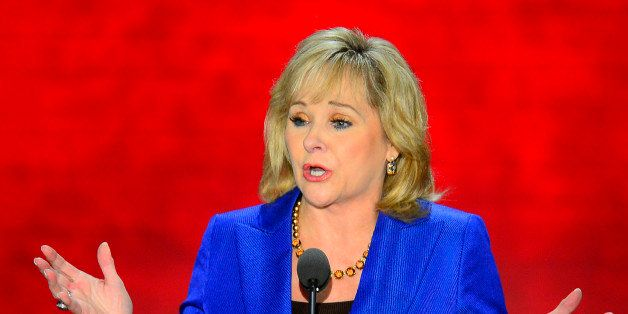 Gov. Mary Fallin of Oklahoma speaks at the second day of the Republican National Convention in Tampa, Florida, Tuesday, Augus