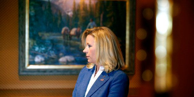 CHEYENNE, WY - JULY 17:  Wyoming Senate candidate Liz Cheney waits in the hallway for a news conference to begin at the Littl