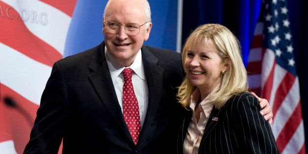 UNITED STATES - FEBRUARY 18:  Former Vice President Dick Cheney embraces his daughter Liz Cheney after he addressed the Conse