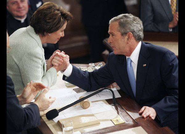"In his <a href=""http://www.c-spanarchives.org/program/196277-2"" target=""_hplink"">2007 address</a>, President Bush began his s"