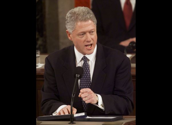 Despite being in the middle of his trial, Bill Clinton made no explicit mention of impeachment during the 1999 State of the U