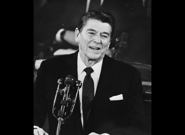 "In 1982, President Ronald Reagan began <a href=""http://www.youtube.com/watch?feature=player_embedded&v=2QFLsxeEl5I#!"" target="