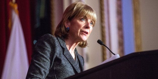BOSTON - OCTOBER 9: Massachusetts Attorney General Martha Coakley spoke as the 100 Club of Massachusetts gathered during a Sa