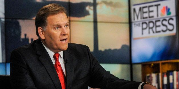 MEET THE PRESS -- Pictured: (l-r)    Rep. Mike Rogers (R-MI), appears in a pre taped interview on 'Meet the Press' in Washing
