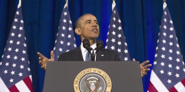 US President Barack Obama speaks about the National Security Agency (NSA) and intelligence agencies surveillance techniques a
