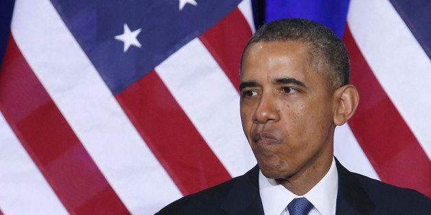 WASHINGTON, DC - JANUARY 17: U.S. President Barack Obama speaks about the National Security Agency (NSA) at the Justice Depar