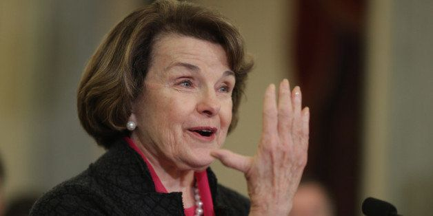 WASHINGTON, DC - JANUARY 15:  Sen. Dianne Feinstein (D-CA) recounts opening a window at her home and seeing a remote-controll