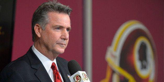 ASHBURN VA - DECEMBER 30: Redskins GM Bruce Allen addresses the media after Redskins head coach Mike Shanahan was fired by ow