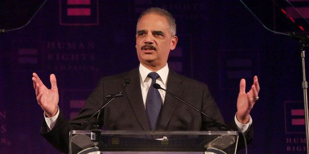 NEW YORK, NY - FEBRUARY 08:  Attorney General of the United States Eric Holder announces that same-sex marriages and opposite