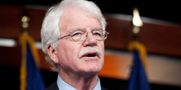 UNITED STATES ? DECEMBER 15: Rep. George Miller, D-Calif., speaks during a news conference to announce efforts to oppose legi