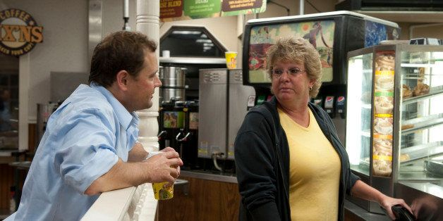 UNITED STATES - OCT 25 : (6:20 a.m.) Tom Periello, D-VA., talks with a patron of Biscuitville dinner in Danville Virginia. (P