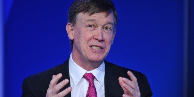 Colorado Governor John Hickenlooper speaks during the 'Energy 2020: States and Business Leading Innovation' summit on Februar