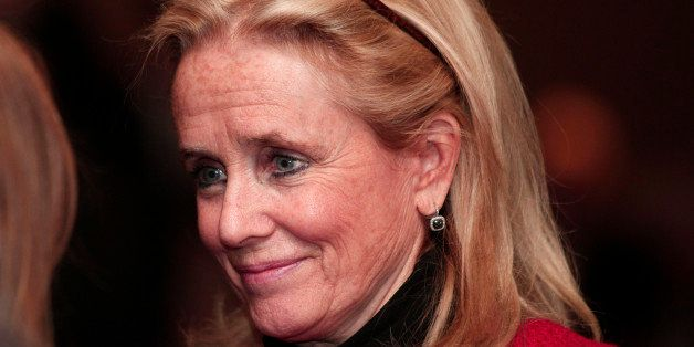 SOUTHGATE, MI - FEBRUARY 24: Debbie Dingell, wife of U.S. Rep. John Dingell (D-MI), 87, the longest serving member of Congress in U.S. history, attends a luncheon where Dingell announced his retirement February 24, 2014 in Southgate, Michigan. Dingell began serving in Congress in 1955, taking over the seat his father vacated. (Photo by Bill Pugliano/Getty Images)