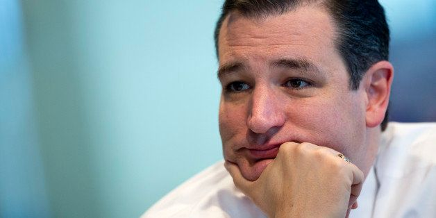 Senator Ted Cruz, a Republican from Texas, listens to a question during an interview in Washington, D.C., U.S., on Thursday,