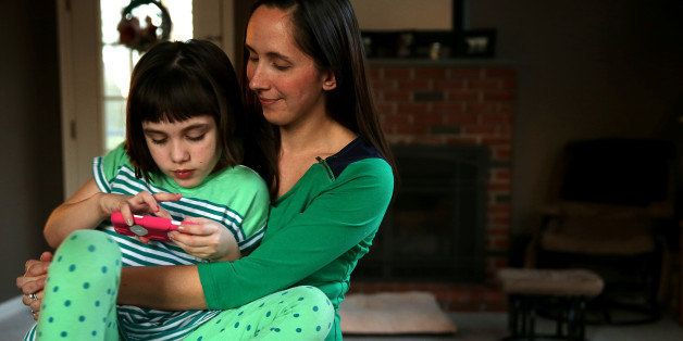 GEORGETOWN, MA - JANUARY 17: Jill Osborn hopes marijuana will help her daughter Haley, 7, with her seizures. Haley has a seve