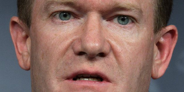 WASHINGTON, DC - DECEMBER 06:  U.S. Sen. Christopher Coons (D-DE) speaks during a news conference about the conflict in Syria