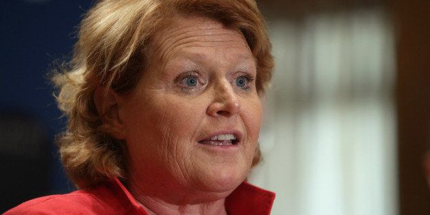 WASHINGTON, DC - APRIL 23:  Sen. Heidi Heitkamp (D-ND) participates in a news conference about the Marketplace Fairness Act i