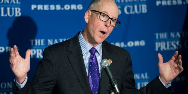 UNITED STATES - MARCH 11: Rep. Greg Walden, R-Ore., chairman of the National Republican Congressional Committee, speaks to th