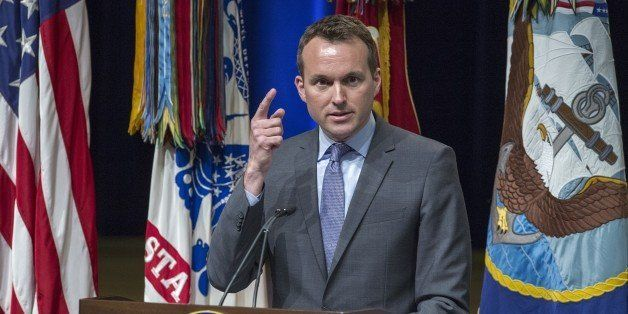 Eric Fanning, Acting Secretary of the US Air Force, the most senior openly gay military leader in the US, delivers remarks du
