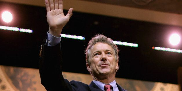 NATIONAL HARBOR, MD - MARCH 07:  Sen. Rand Paul (R-KY) walks off the stage after addressing the Conservative Political Action