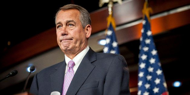 U.S. House Speaker John Boehner, a Republican from Ohio, speaks during a news conference at the Capitol in Washington, D.C.,