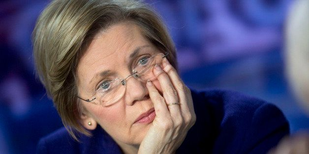 Senator Elizabeth Warren, a Democrat from Massachusetts, listens to a question after a Bloomberg Television interview in Wash